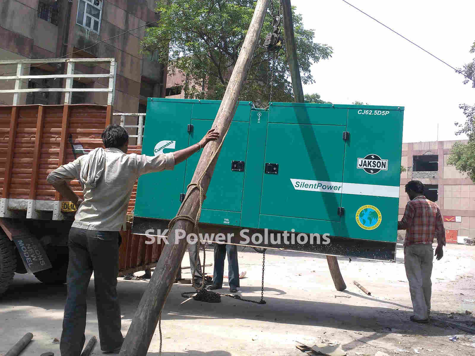 Work Three Which is in Central Delhi. Where we Provide Generator on hire